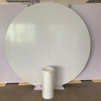 High Quality Round Circle Donut Acrylic White Wall Backdrop For Wedding