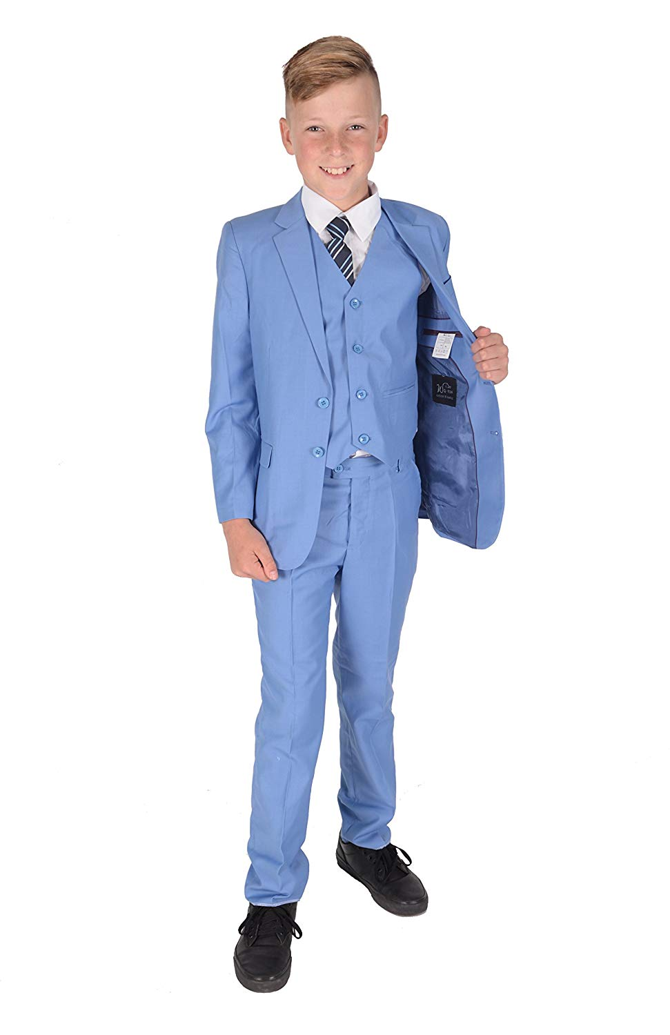 13e0eb95f Get Quotations · Cinda 5 Piece Light Blue Boy Suits Boys Wedding Suit Page  Boy Party Prom