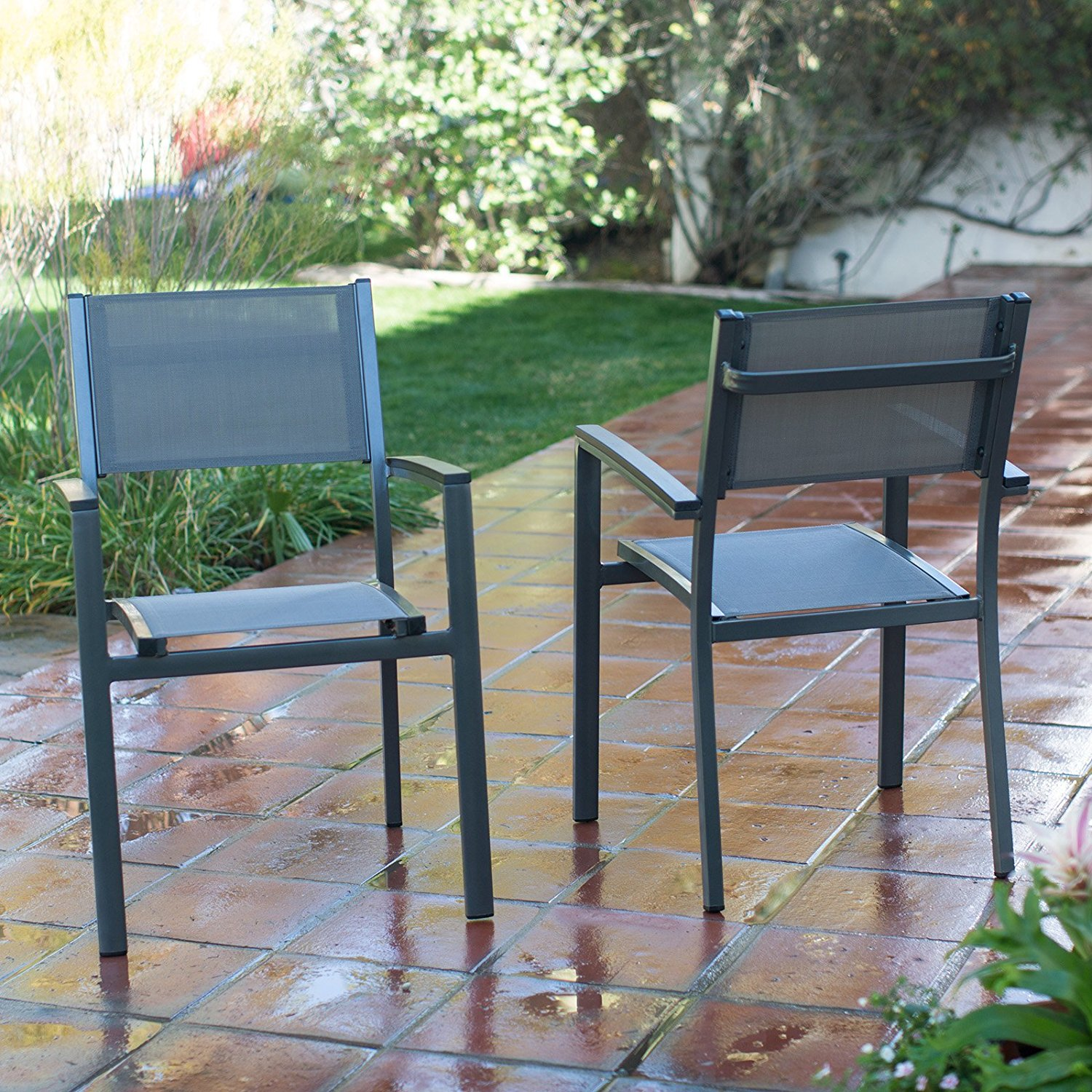 Get Quotations · Coral Coast Whitney Sling Stacking Outdoor Patio Dining Chair & Cheap Blue Sling Patio Chair find Blue Sling Patio Chair deals on ...