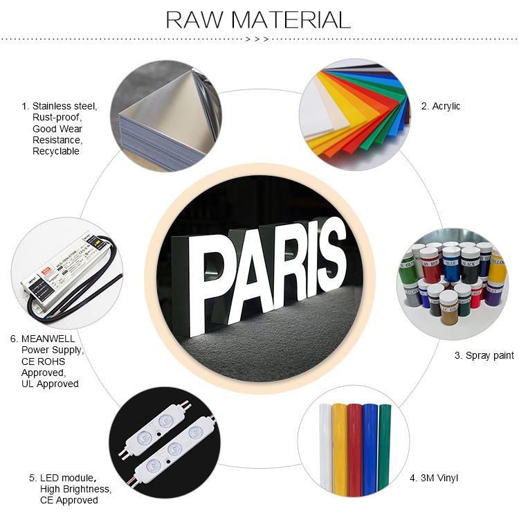 Applique Da Parete per esterni Mouted Segno In Acciaio Inox LED Lettera di Scanalatura Per La Vendita Calda