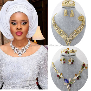 Fashion 18k Gold Plating Jewelry Set Nigeria Jewelry Sets African