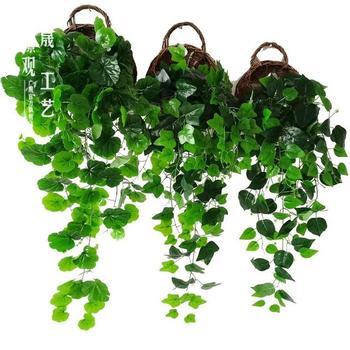 1m Artificial Ivy Vines Hanging Wall Bonsai Green Grapevine Type Money Plants Ornamental Decorative