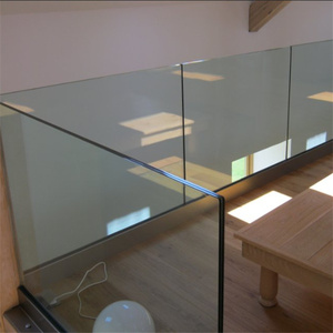Customized indoor aluminum u channel glass railings designs