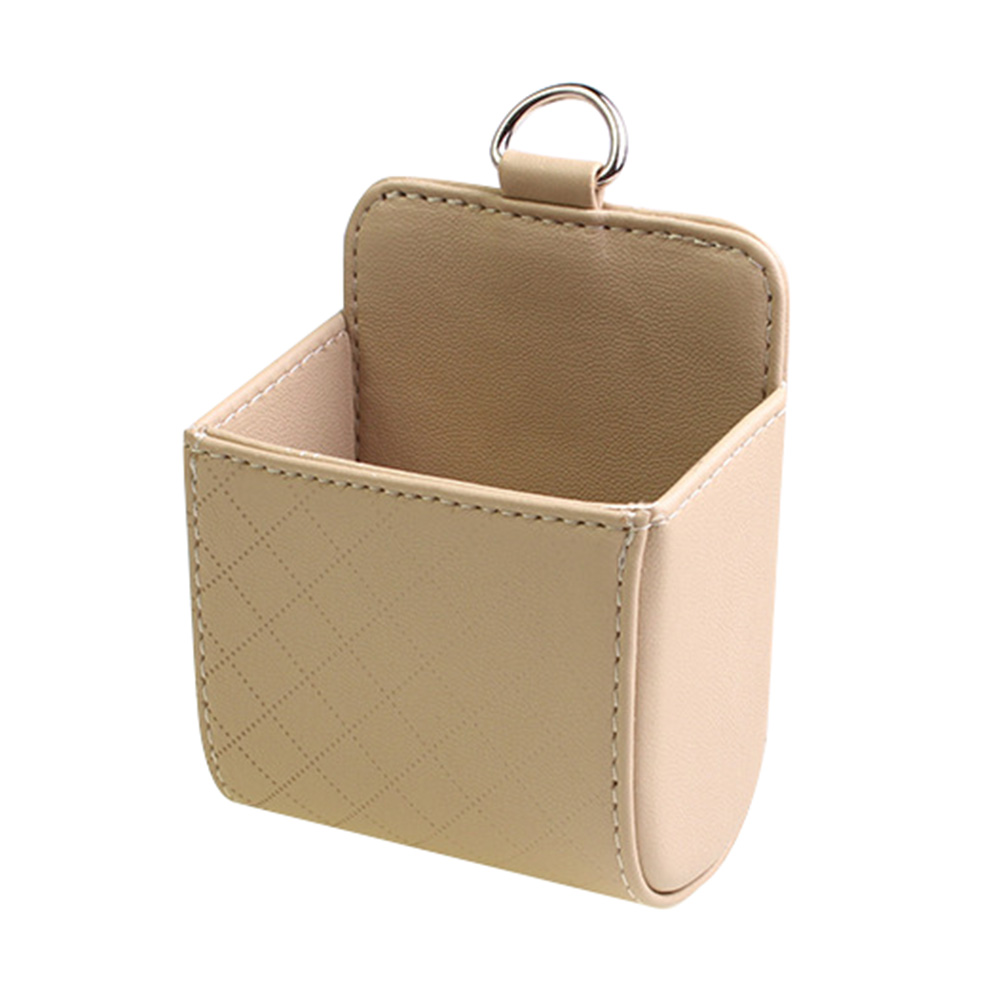 Автомобильный Органайзер с вентиляционным отверстием, сумка для хранения, универсальный кожаный держатель для мобильного телефона с автом...(Китай)