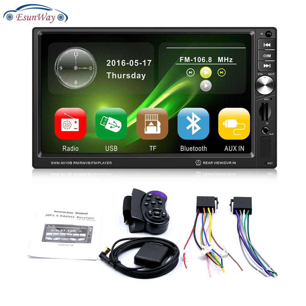 Doppio 2 din autoradio auto lettore video Touch Screen MP5 Dell'automobile DVD Player con GPS