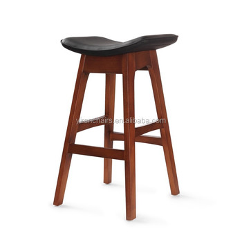Wooden Bar Chair With Soft Seat Bar Stool Footrest Covers