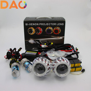 Dual ccfl angel eye 2.0inch bi-xenon projector lens Headlight Projector Lens Kit