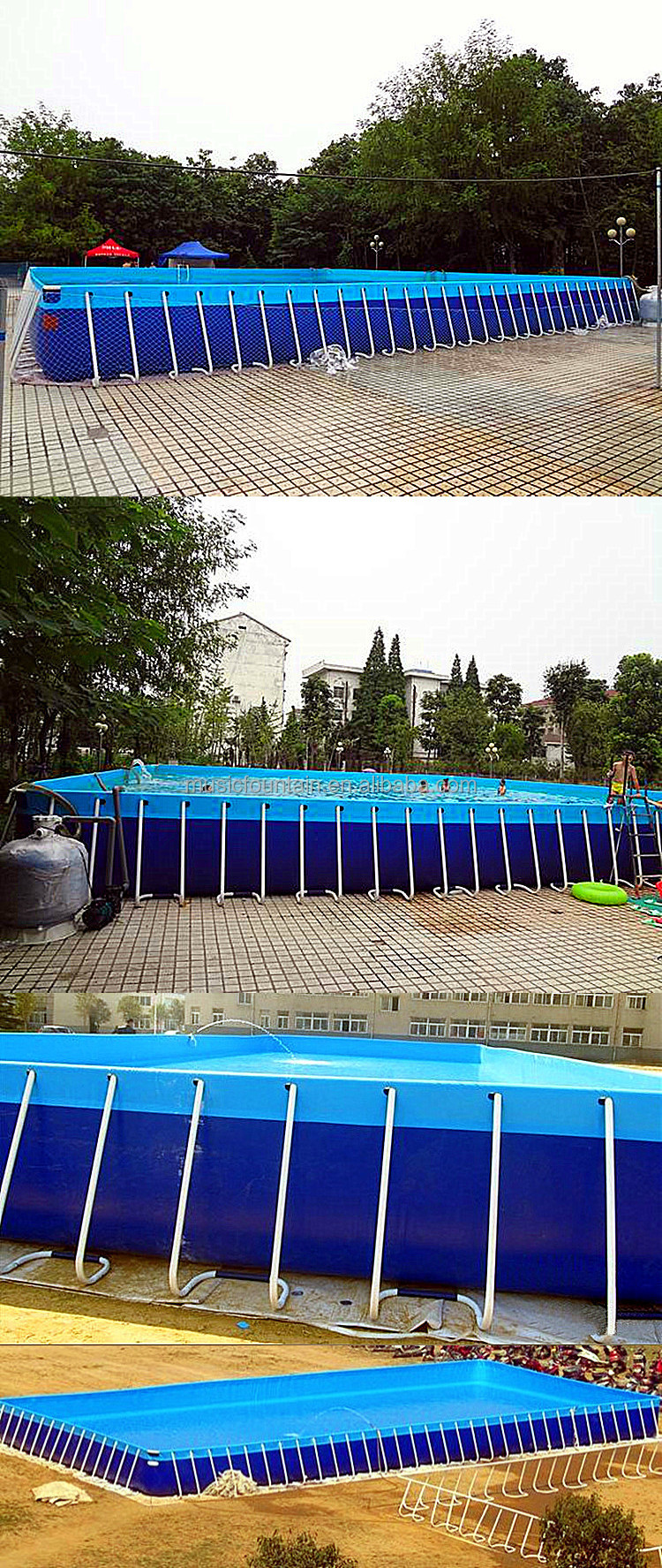 Outdoor Family Above Ground Hard Plastic Frame Swimming