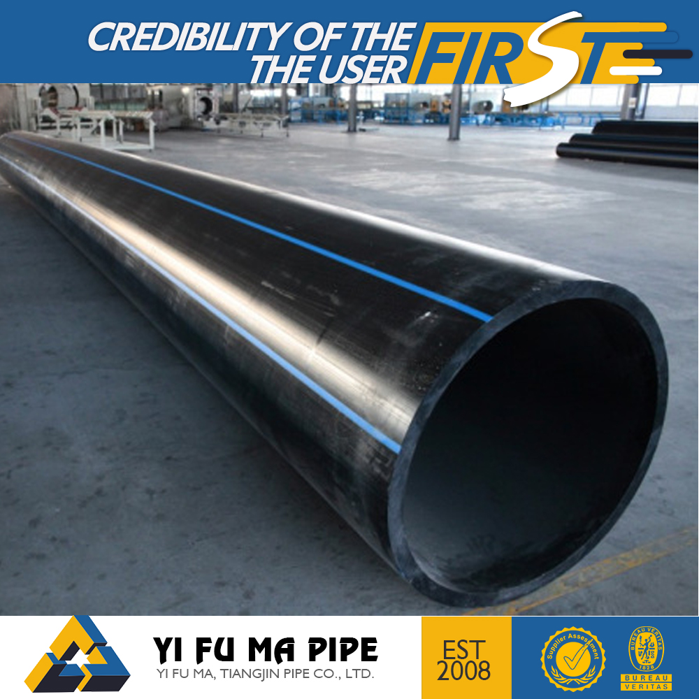 Black High Density pe100 Polyethylene Conduit Pipe , HDPE Plastic Tube with Factory price