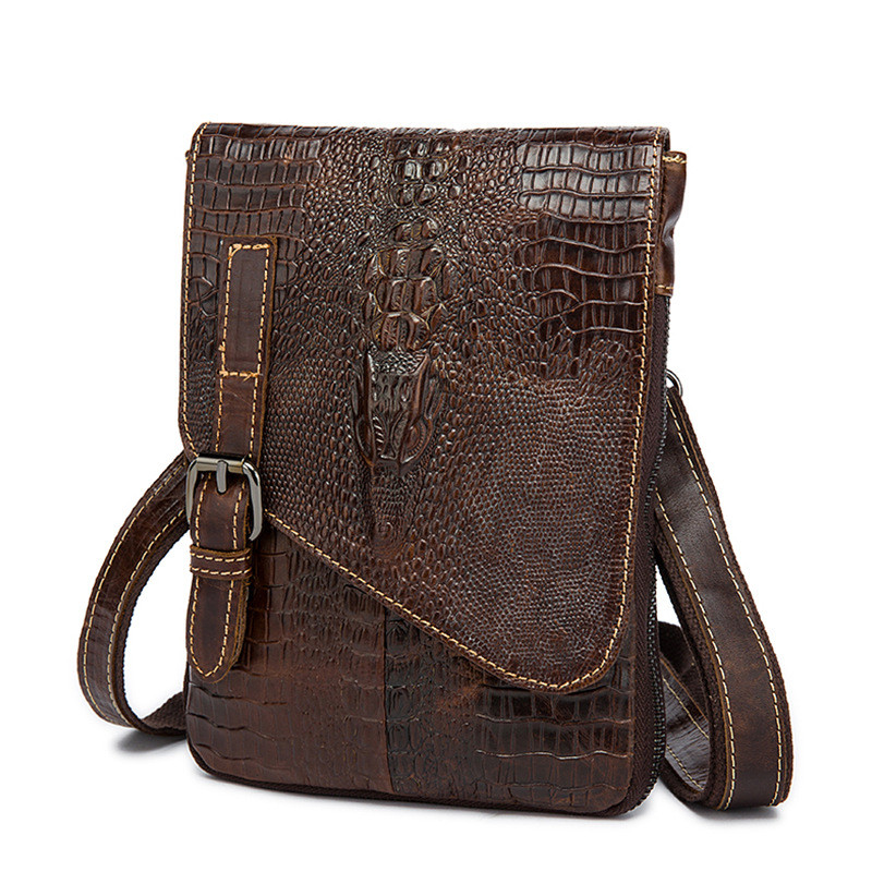 b15e8377d093 2019 новейший стереоскопический узор крокодил сумка дизайнерская мужская  сумка дропшиппинг США сумка мужская кожа