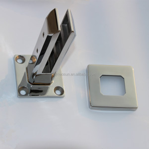 Spigots in 316 stainless steel frameless glass railing hardware
