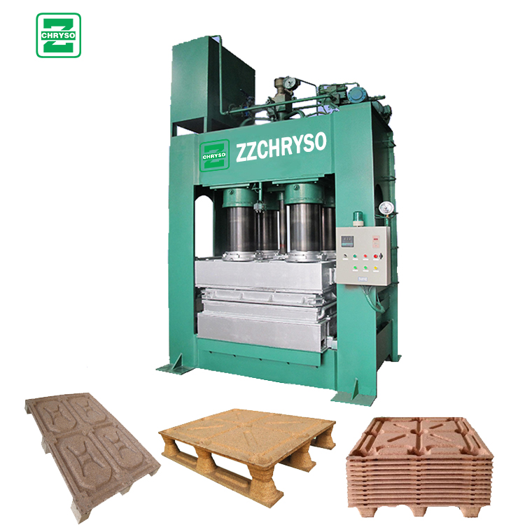 Automatic wood pallet machine to recycle waste wood sawdust pallet making machine