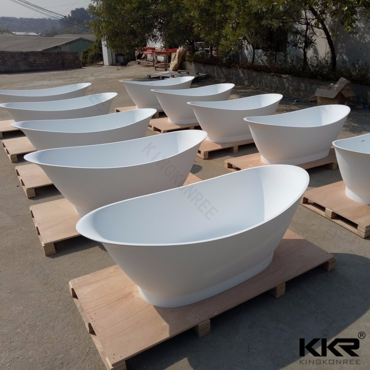 solid artificial stone bathtubs/stone resin freestanding tub