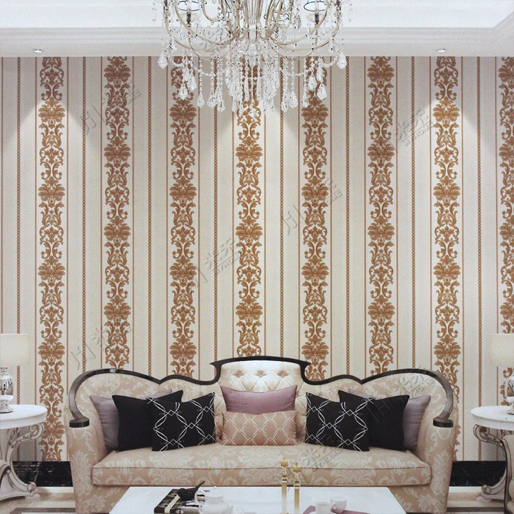 classic wholesale hotel designs interior deco pvc flower luxury wallpaper