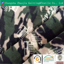 Hot sale new product military Camouflage rotary printed anti-pilling knit polar fleece fabric for blanket
