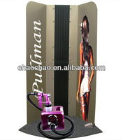 spray tanning booth with extraction function