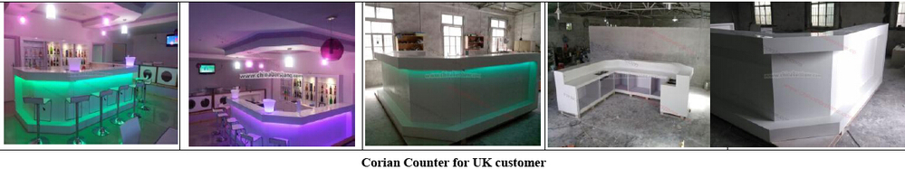 Dtb010 Modern Translucent Marble Bar Counter With Led