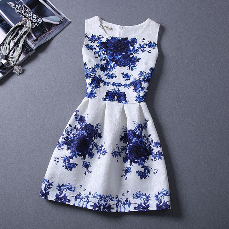 Girls Formal Dresses Teens Designer Print Flower Butterfly Sleeveless Dress Hallowmas Holiday For 9 16 Girls