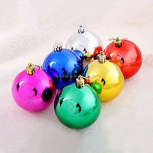 2017Wholesale shatterproof christmas ball ornaments tree balls shiny light top selling on sale