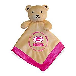 NFL Football Baby Infant Girls Pink Security Snuggle Bear Blanket (Green Bay Packers) by Baby Fanatic