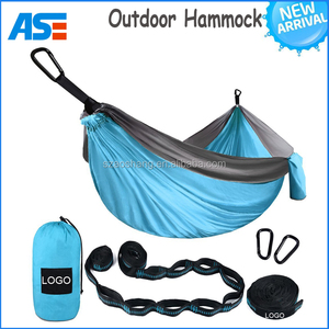 New arrival Outdoor parachute cloth Camping double hanging hammock