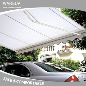 Elegant automatic open retractable folding arm awning