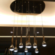 modern decorative black or chrome metal water drop 5W LED pendant light for dinning kitchen