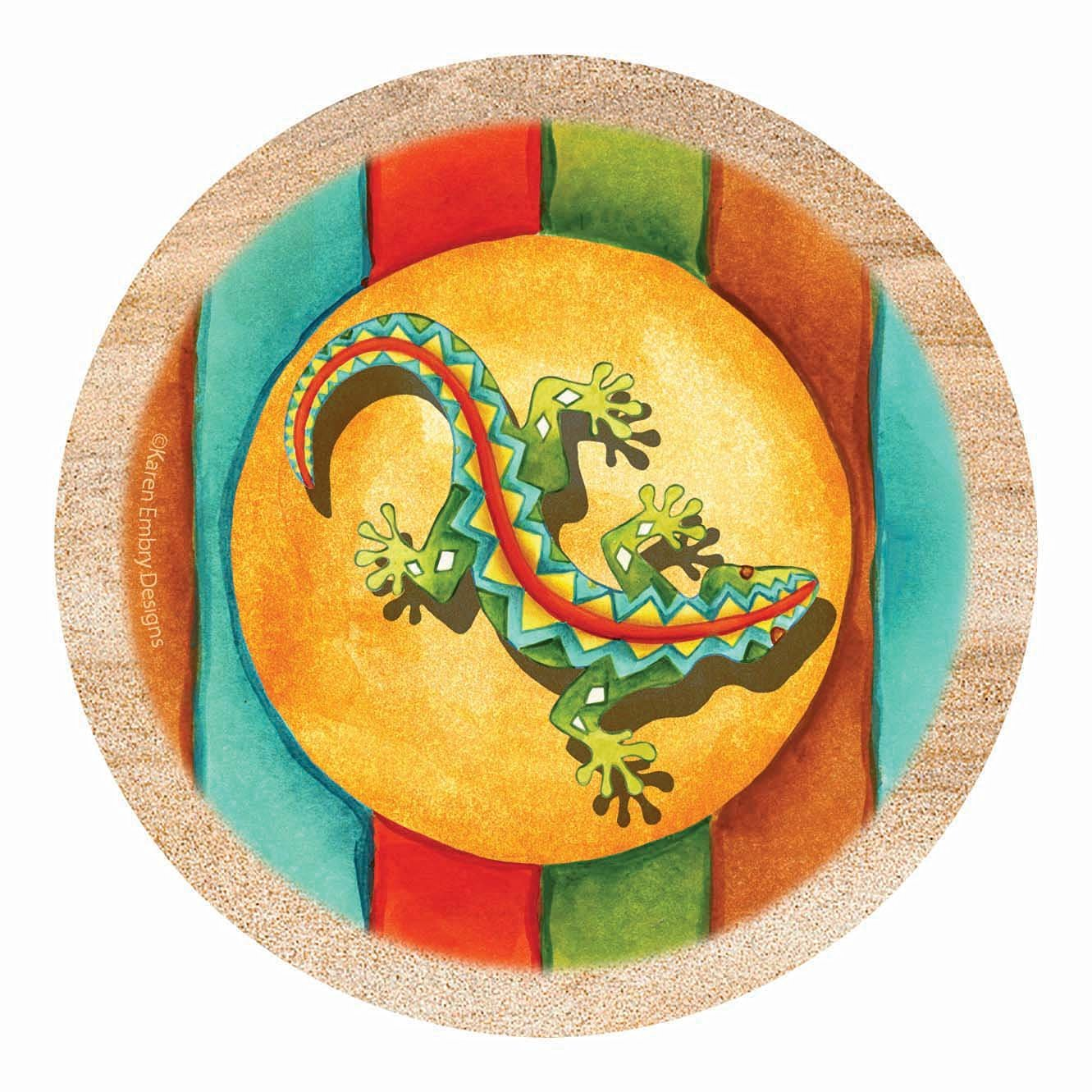 Thirstystone Drink Coaster Set, Southwest Gecko