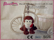 Hot design Cute Fashion Factory price Promotional gifts and Holiday gifts Wholesale Plush Keychain Monkey