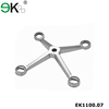 four-arm stainless steel glass spider,spider clamp stainless,glass fin spider fitting