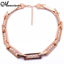 New Za Brand Fashion Gem Flower Resin Necklaces & Pendants Costume Pearl Vintage Choker Collar Necklace Good Quality B455