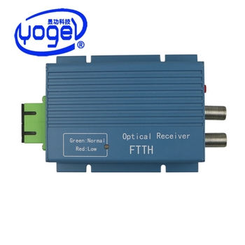 FTTH CATV 2 ports WDM Receiver agc 1550nm fiber optical receiver