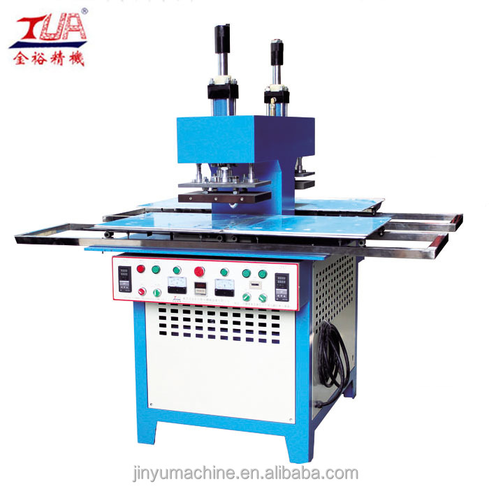 Automatic embossing with a heat press machine