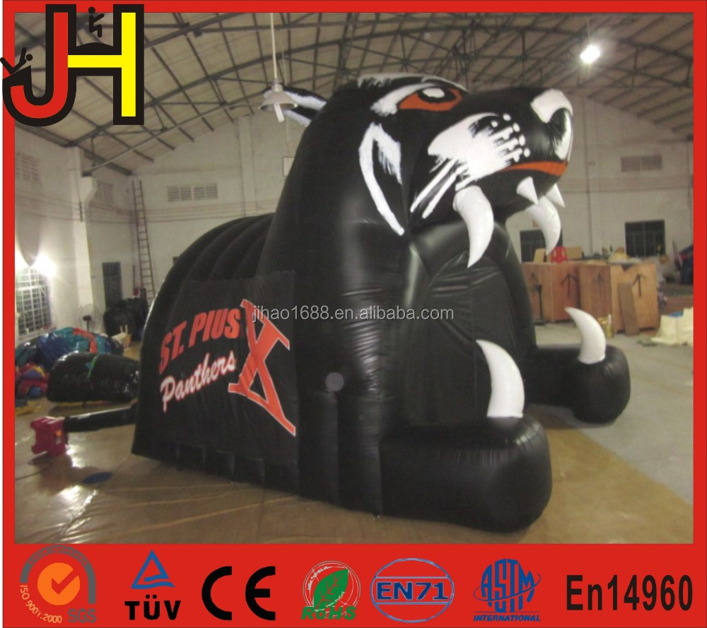 New design painting inflatable tiger tunnel, inflatable tunnel tent