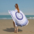Large Size Custom Summer Yoga Towel Beach Round Towel