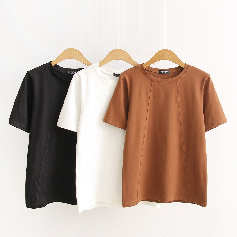 MS75091L 2017 summer women plain casual t-shirts