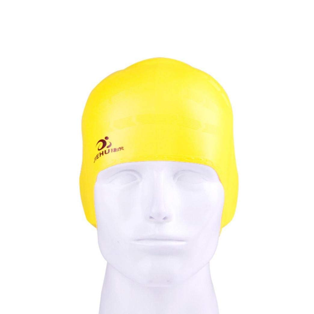 9802c9ccba3 Get Quotations · Swimming Cap, Shybuy Waterproof Swim Cap for Adult Men  Women Solid Silicone Swim Caps For