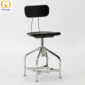 Wooden Swivel Bar Stools Chairs with Backs