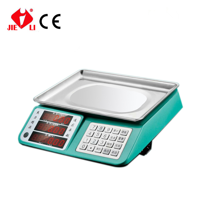table top 30kg vegetable price computing weighing scale