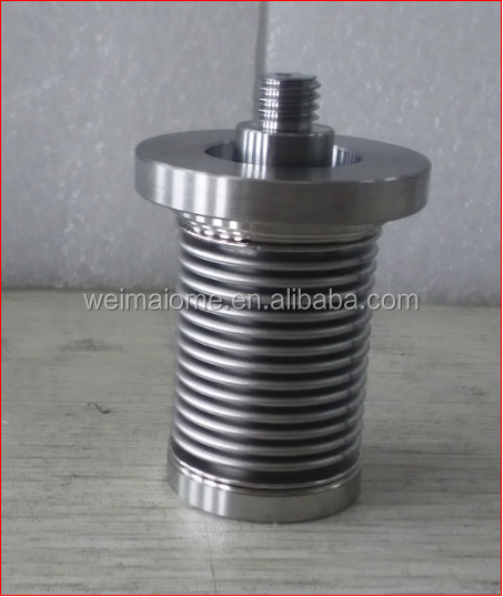 Flexible stainless steel air bellow seal valve core