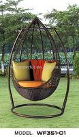 WF351-01 outdoor rattan swing hanging chair