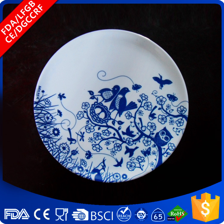 New brand 2017 melanine fast food tableware plastic charger plate With the Best Quality