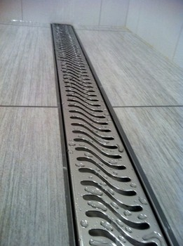 Stainless Steel Linear Shower Floor Trap Drains Concrete