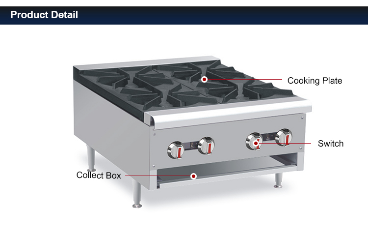 Commercial Gas Cooking Stoves /Stainless Steel Gas 4 big burners