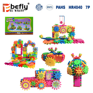 81pcs funny gear toy intelligent plastic building blocks for sale