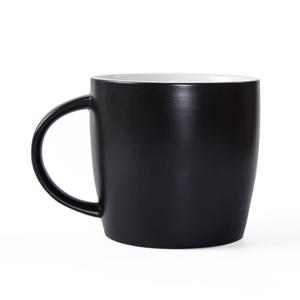 Stoneware Mug 16Oz Ceramic Black Coffee Mug Matte