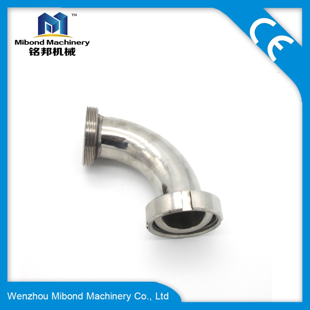 4 inch 3A/SMS/ISO/DIN Sanitary welded Elbow 90Degree Fitting SS 304/Male female Union type Elbow(Control Pneumatic Valve)
