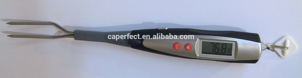 China supplier good quantity digital bbq lcd fork thermometer with stainless steel probe with fork