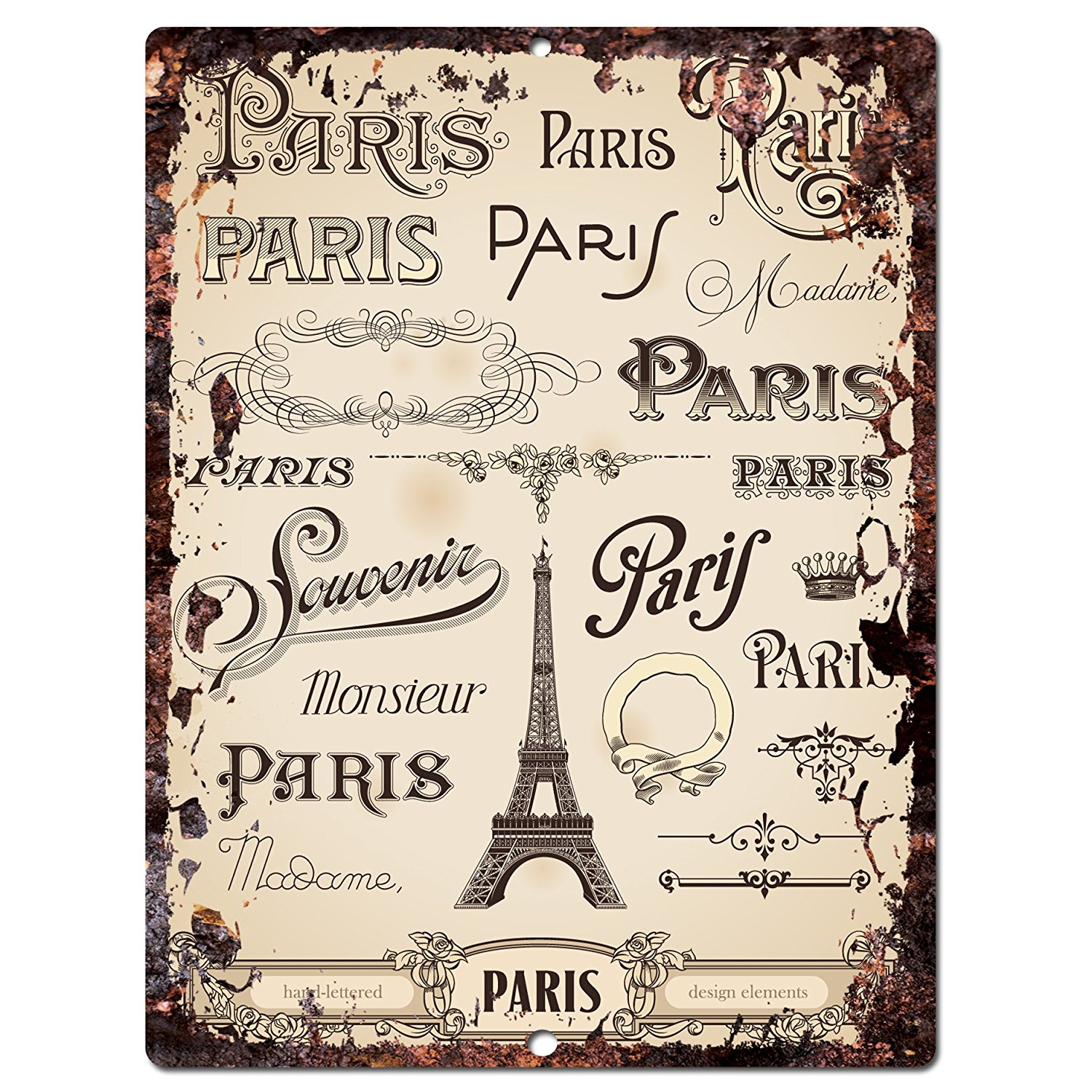 Buy Paris Chic Sign Rustic Shabby Vintage Style Retro Kitchen Bar