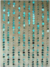 Event Decor blue PVC beaded curtain AM165